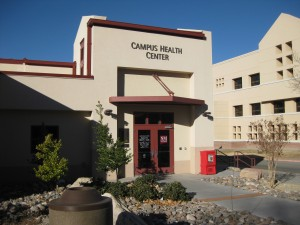 Picture of the exterior of the Campus Health Center